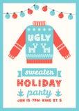 Fult kort för inbjudan för tröjaferieparti Royaltyfri Bild