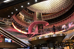 Fulton Center maakt deel uit van $1 4 miljard project door de Metropolitaanse Vervoersinstantie royalty-vrije stock foto