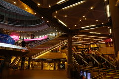 Fulton Center NYC 1. Designed by Grimshaw Architects in collaboration with Arup and worldrenowned designer James Carpenter, who is celebrated for his work with Royalty Free Stock Photography
