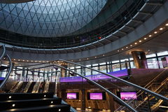 Fulton Center NYC 34. Designed by Grimshaw Architects in collaboration with Arup and worldrenowned designer James Carpenter, who is celebrated for his work with Stock Image
