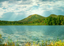 Fulton chain lakes, adirondackdelstatspark Arkivfoton