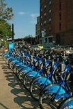 Fulton Ferry Landing Citibike Brooklyn New York US Royalty Free Stock Photos