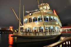 Fulton's Crab House. At night in Downtown Disney Orlando, Florida, USA Royalty Free Stock Images