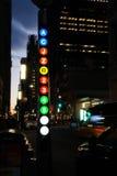 Fulton St Station Subway Sign, New York City Imagenes de archivo
