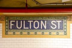 Fulton Street - Manhattan, New York Stock Photos