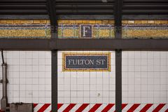 Fulton Street Subway Station - Brooklyn, New York Stock Photo