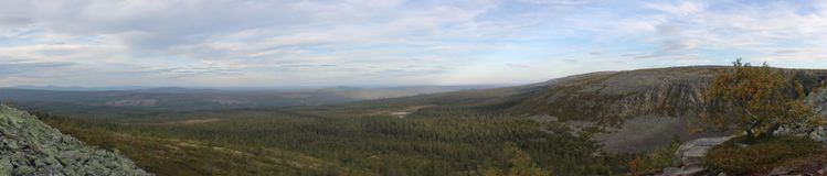 Fulufjaellet-Panorama Lizenzfreies Stockbild