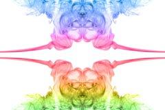 Fumée abstraite colorée Images libres de droits