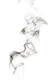 Fumée abstraite d'encens d'isolement images stock