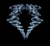 Fumée abstraite d'isolement. Images libres de droits