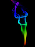 Fumée abstraite en couleurs Photo libre de droits