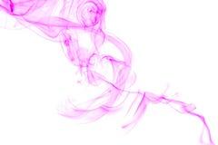 Fumée abstraite rose Photos libres de droits