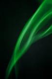Fumée abstraite verte Images libres de droits