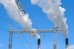 Fumée blanche de cheminée Photo libre de droits