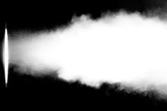 Fumée blanche dans le faisceau lumineux Images libres de droits