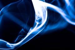Fumée bleue Photographie stock