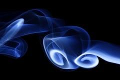 Fumée bleue 4 Photographie stock