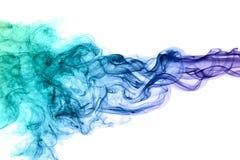 Fumée bleue Images stock