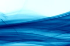 Fumée bleue Photographie stock libre de droits