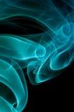 Fumée bleue abstraite Photographie stock libre de droits
