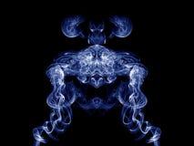 Fumée bleue artistique Images libres de droits
