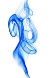 Fumée bleue sur le blanc Images libres de droits