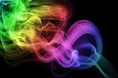 Fumée circulaire Photographie stock libre de droits