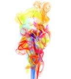 Fumée colorée photographie stock