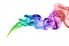 Fumée colorée d'abstrait Images libres de droits