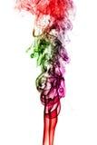 Fumée colorée d'isolement sur le fond blanc Photos libres de droits