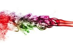 Fumée colorée d'isolement sur le fond blanc Image stock