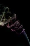Fumée colorée sur le noir Photographie stock
