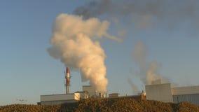Fumée déchargée d'une usine banque de vidéos