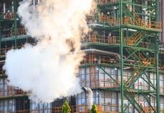 Fumée d'écoulement de pression de structu d'acier de tube à gaz et en métal images stock