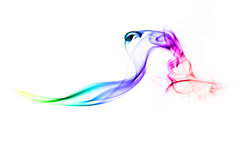Fumée d'arc-en-ciel de Colorfull Photos libres de droits