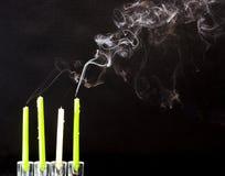Fumée d'arrivée Photographie stock libre de droits