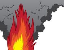 Fumée d'incendie Photos stock