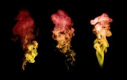 Fumée d'isolement sur le noir photos libres de droits