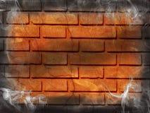 Fumée d'obscurité de brique de mur photographie stock