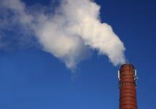 Fumée d'une pipe Photos stock