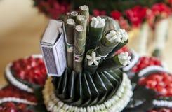 Fumée dans la cérémonie de mariage Photo stock