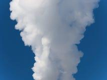 Fumée dans le ciel photo libre de droits