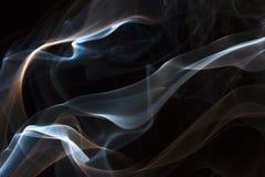 Fumée dans le noir Photo stock