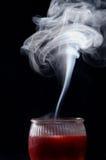Fumée de bougie Photo stock
