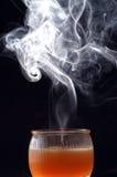 Fumée de bougie Image stock