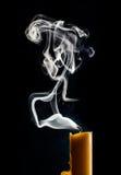 Fumée de bougie Image libre de droits