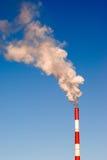 Fumée de cheminée Photo stock