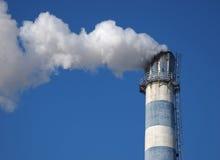 Fumée de cheminée de ¼ d'ï de pollution Image libre de droits
