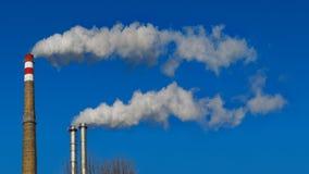 Fumée de cheminées Photo libre de droits