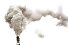 Fumée de Dyrty d'isolement Images stock